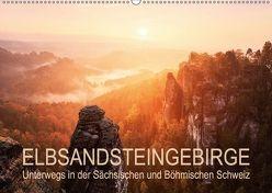 Elbsandsteingebirge: Unterwegs in der Sächsischen und Böhmischen Schweiz (Wandkalender 2018 DIN A2 quer) von Aust,  Gerhard