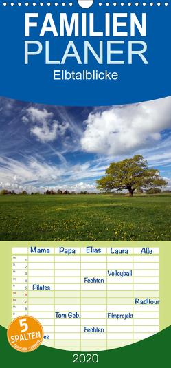 Elbtalblicke – Familienplaner hoch (Wandkalender 2020 , 21 cm x 45 cm, hoch) von Akrema-Photography