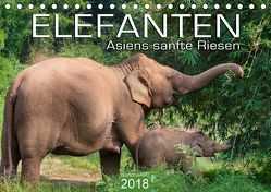 ELEFANTEN Asiens sanfte Riesen (Tischkalender 2018 DIN A5 quer) von BuddhaART,  k.A.
