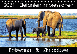 Elefanten Impressionen (Tischkalender 2021 DIN A5 quer) von Fraatz,  Barbara