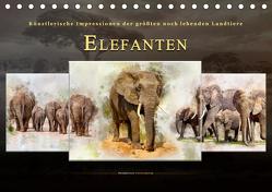 Elefanten – künstlerische Impressionen der größten noch lebenden Landtiere (Tischkalender 2019 DIN A5 quer) von Roder,  Peter