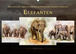 Elefanten – künstlerische Impressionen der größten noch lebenden Landtiere (Wandkalender 2019 DIN A2 quer) von Roder,  Peter