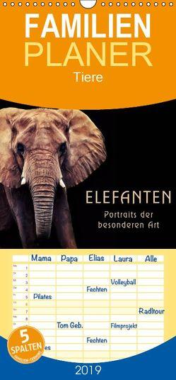 Elefanten – Portraits der besonderen Art – Familienplaner hoch (Wandkalender 2019 <strong>21 cm x 45 cm</strong> hoch) von DESIGN Photo + PhotoArt,  AD, Dölling,  Angela
