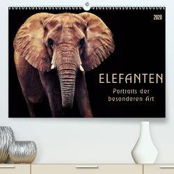 Elefanten – Portraits der besonderen Art (Premium, hochwertiger DIN A2 Wandkalender 2020, Kunstdruck in Hochglanz) von DESIGN Photo + PhotoArt,  AD, Dölling,  Angela