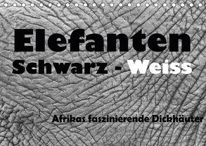 Elefanten Schwarz – Weiss (Tischkalender 2018 DIN A5 quer) von Stern,  Angelika