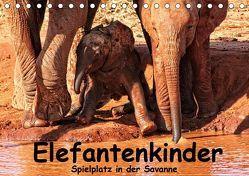 Elefantenkinder. Spielplatz Savanne (Tischkalender 2019 DIN A5 quer) von Michel,  Susan