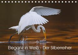 Eleganz in Weiß – Der Silberreiher (Tischkalender 2021 DIN A5 quer) von Martin,  Wilfried