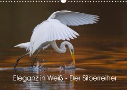 Eleganz in Weiß – Der Silberreiher (Wandkalender 2021 DIN A3 quer) von Martin,  Wilfried