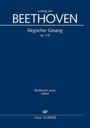 Elegischer Gesang (Klavierauszug) von Beethoven,  Ludwig van