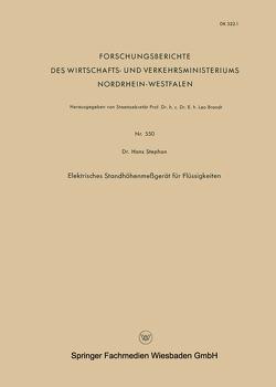 Elektrisches Standhöhenmeßgerät für Flüssigkeiten von Stephan,  Hans