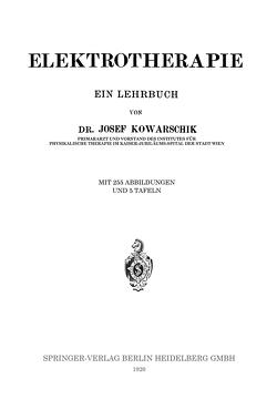 Elektrotherapie von Kowarschik,  Josef