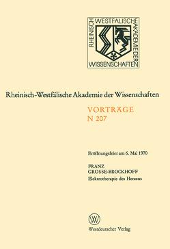 Elektrotherapie des Herzens von Grosse-Brockhoff,  Franz