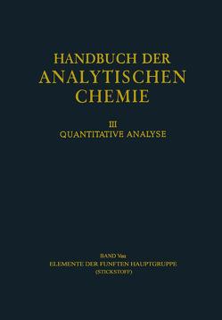 Elemente der Fünften Hauptgruppe von Leithe,  Wolfgang