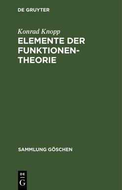 Elemente der Funktionentheorie von Knopp,  Konrad