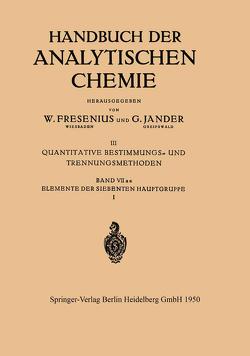 Elemente der Siebenten Hauptgruppe I von Bähr,  G.