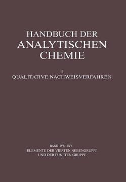 Elemente der Vierten Nebengruppe und der Fünften Gruppe von Jantsch,  Gustav