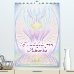 Elfengrundkalender Achtsamkeit (Premium, hochwertiger DIN A2 Wandkalender 2021, Kunstdruck in Hochglanz) von Vogler,  Martin