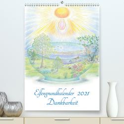 Elfengrundkalender Dankbarkeit (Premium, hochwertiger DIN A2 Wandkalender 2021, Kunstdruck in Hochglanz) von Vogler,  Martin