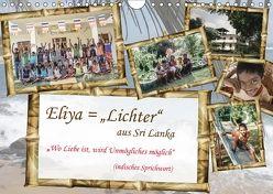 """Eliya = """"Lichter"""" aus Sri Lanka / 2018 (Wandkalender 2018 DIN A4 quer) von Riedlinger,  Angelika, Stein,  Gaby"""