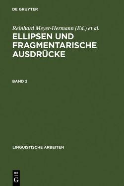 Ellipsen und fragmentarische Ausdrücke von Meyer-Hermann,  Reinhard, Rieser,  Hannes