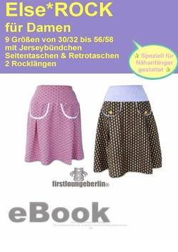 Else.ROCK Faltenrock in 2 Längen Schnittmuster mit Nähanleitung von firstloungeberlin von Schille,  Ina