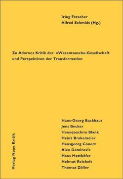 Emanzipation als Versöhnung von Backhaus,  Hans G, Becker,  Jens, Blank,  Hans J, Fetscher,  Iring, Ritsert,  Jürgen, Schmidt,  Alfred
