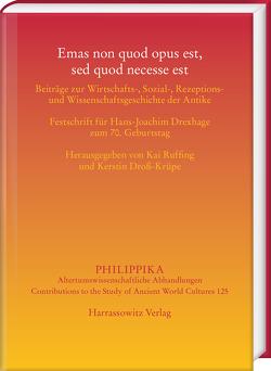 Emas non quod opus est, sed quod necesse est von Droß-Krüpe,  Kerstin, Ruffing,  Kai