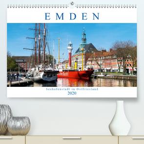EMDEN, Seehafenstadt in Ostfriesland (Premium, hochwertiger DIN A2 Wandkalender 2020, Kunstdruck in Hochglanz) von Dreegmeyer,  Andrea