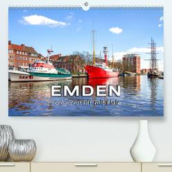 EMDEN Seehafenstadt mit Flair (Premium, hochwertiger DIN A2 Wandkalender 2020, Kunstdruck in Hochglanz) von Dreegmeyer,  Andrea