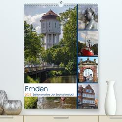 Emden – Sehenswertes der Seehafenstadt (Premium, hochwertiger DIN A2 Wandkalender 2021, Kunstdruck in Hochglanz) von Poetsch,  Rolf