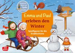 Emma und Paul erleben den Winter. Spielfiguren für die Erzählschiene. von Bohnstedt,  Antje, Lehner,  Monika