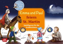 Emma und Paul feiern St. Martin. Spielfiguren für die Erzählschiene. von Bohnstedt,  Antje, Lehner,  Monika