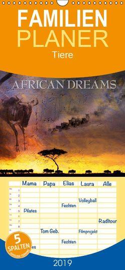 Emotionale Momente: African Dreams – Familienplaner hoch (Wandkalender 2019 , 21 cm x 45 cm, hoch) von Gerlach GDT,  Ingo