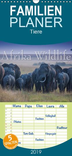 Emotionale Momente: Afrika Wildlife. Part 3. – Familienplaner hoch (Wandkalender 2019 , 21 cm x 45 cm, hoch) von Gerlach GDT,  Ingo