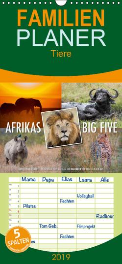 Emotionale Momente: Afrikas Big Five – Familienplaner hoch (Wandkalender 2019 , 21 cm x 45 cm, hoch) von Gerlach GDT,  Ingo