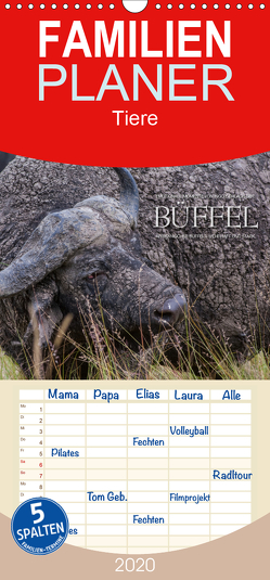 Emotionale Momente: Büffel – Familienplaner hoch (Wandkalender 2020 , 21 cm x 45 cm, hoch) von Gerlach GDT,  Ingo