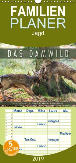 Emotionale Momente: Das Damwild. – Familienplaner hoch (Wandkalender 2019 , 21 cm x 45 cm, hoch) von Gerlach,  Ingo