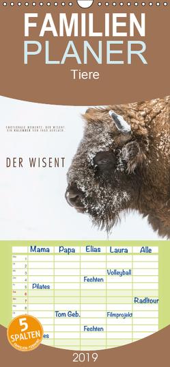 Emotionale Momente: Der Wisent. – Familienplaner hoch (Wandkalender 2019 , 21 cm x 45 cm, hoch) von Gerlach,  Ingo