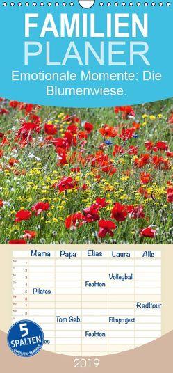 Emotionale Momente: Die Blumenwiese. – Familienplaner hoch (Wandkalender 2019 , 21 cm x 45 cm, hoch) von Gerlach GDT,  Ingo