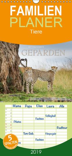 Emotionale Momente: Geparden – Familienplaner hoch (Wandkalender 2019 , 21 cm x 45 cm, hoch) von Gerlach GDT,  Ingo