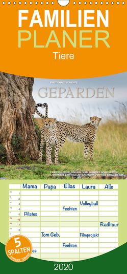 Emotionale Momente: Geparden – Familienplaner hoch (Wandkalender 2020 , 21 cm x 45 cm, hoch) von Gerlach GDT,  Ingo
