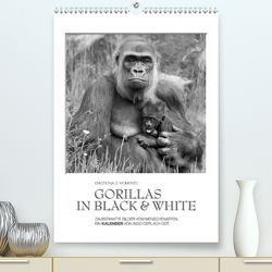 Emotionale Momente: Gorillas in black & white (Premium, hochwertiger DIN A2 Wandkalender 2021, Kunstdruck in Hochglanz) von Gerlach GDT,  Ingo