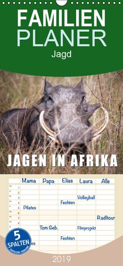 Emotionale Momente: Jagen in Afrika. – Familienplaner hoch (Wandkalender 2019 , 21 cm x 45 cm, hoch) von Gerlach,  Ingo