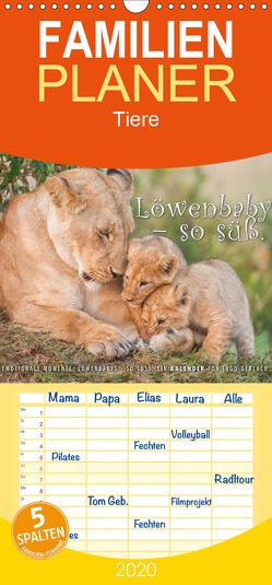 Emotionale Momente: Löwenbabys – so süß. – Familienplaner hoch (Wandkalender 2020 , 21 cm x 45 cm, hoch) von Gerlach,  Ingo
