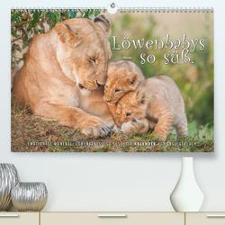 Emotionale Momente: Löwenbabys – so süß. (Premium, hochwertiger DIN A2 Wandkalender 2021, Kunstdruck in Hochglanz) von Gerlach,  Ingo