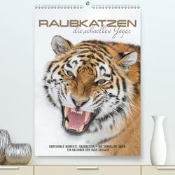 Emotionale Momente: Raubkatzen – die schnellen Jäger. (Premium, hochwertiger DIN A2 Wandkalender 2021, Kunstdruck in Hochglanz) von Gerlach,  Ingo