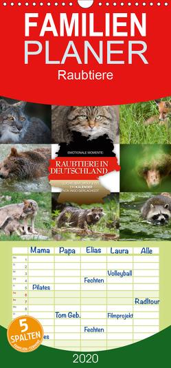 Emotionale Momente: Raubtiere in Deutschland – Familienplaner hoch (Wandkalender 2020 , 21 cm x 45 cm, hoch) von Gerlach GDT,  Ingo