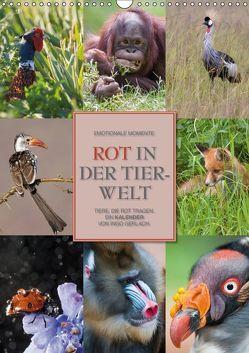 Emotionale Momente: Rot in der Tierwelt (Wandkalender 2018 DIN A3 hoch) von Gerlach GDT,  Ingo