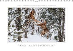 Emotionale Momente: Tiger – Kraft & Schönheit. / CH-Version (Wandkalender 2019 DIN A3 quer) von Gerlach GDT,  Ingo