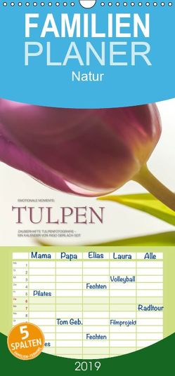 Emotionale Momente: Tulpen – Familienplaner hoch (Wandkalender 2019 , 21 cm x 45 cm, hoch) von Gerlach GDT,  Ingo